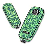 Decal Sticker Skin WRAP - Firefly Vaporizer - Weed Pattern Green (Color: green)