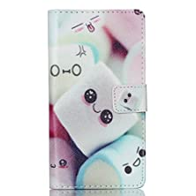 buy P8 Lite Case, P8 Lite Wallet Case, Firefish High Quality Pu Leather Case Wallet Flip Stand Case [Flap Closure] [Card Slots] Protective Cover For Huawei P8 Lite (Not For Ascend P8) -Cute Cake