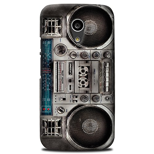 CASE U Vintage rugged Boombox Designer Case for Moto G2