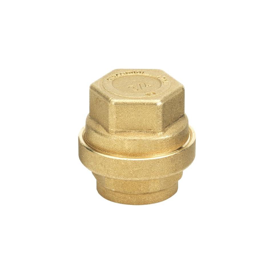 GripNGo 510 12 Brass Push Fit Cap, 1/2 Inch