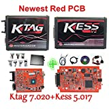HITSAN 2018 Newest Kess V2 V5.017 SW V2.47 Ktag K TAG V7.020 Master Kess 5.017 Red PCB Online Unlimited Tokens ECU Chip Tuning Tool
