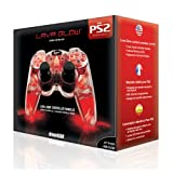 Playstation 2  Lava Glow Wired Controller in gift box - Red