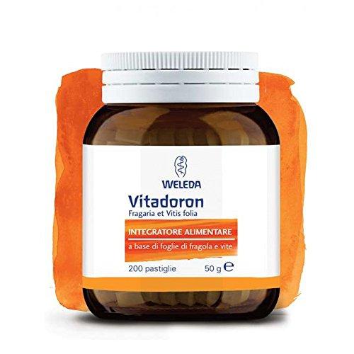 WELEDA VITADORON 200 pastiglie integratore foglie fragole vite cellulite fegato