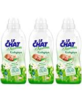 Le Chat - Adoucissant Liquide cologique Concentr - Flacon 750 ml / 30 Lavages - Lot de 3