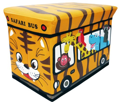 Storage box stool safari bus (japan import)