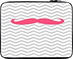 """Snoogg Wave Mustache 15"""" inch to 15.5"""" inch to 15.6"""" inch Laptop netbook notebook Slipcase sleeve Soft case cover bag notebook / netbook / ultrabook carrying case for Macbook Pro Acer Asus Dell Hp Sony Toshiba"""