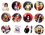 MICHAEL JACKSON MJ (2) Awesome Quality Lot 12 New Pin Pinback Button Badge 1.25