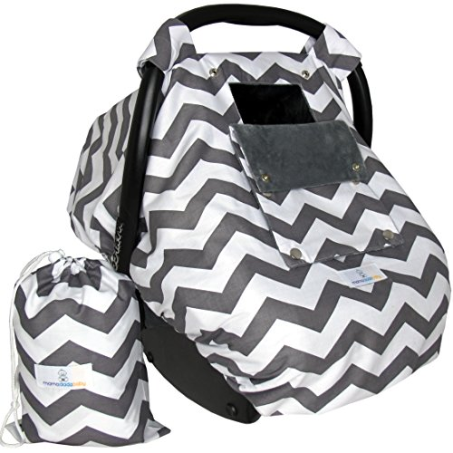 Baby Car Seat Covers for Girls and Boys, Infant Canopy WITH Window-Flap System AND Bag (Infant Boys Car Seat Covers compare prices)