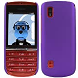 ITALKonline Nokia Asha 300 PURPLE Hard Slim Grip Wave Tough Case Soft Skin Cover