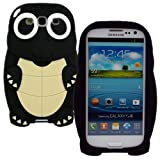 Shenit Cute Turtle Silicone Case for Samsung Galaxy S3 i9300 Protective Skin Cover black