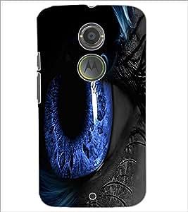 PrintDhaba Blue Eyes D-3332 Back Case Cover for MOTOROLA MOTO X2 (Multi-Coloured)