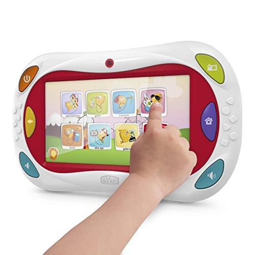 """Chicco - Tablet de aprendizaje Happy Tab, con control parental, 7"""", 8 GB, color blanco"""