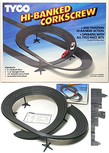 1988 TYCO Slot Car HI BANKED CORKSCREW CURVE Track 6738