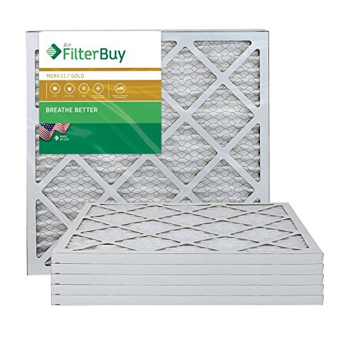 AFB Gold MERV 11 20x20x1 Pleated AC Furnace Air Filter. Pack of 6 Filters. 100% produced in the USA. by FilterBuy