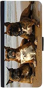 Snoogg Dog'S Make Friends Designer Protective Flip Case Cover For Asus Zenfon...