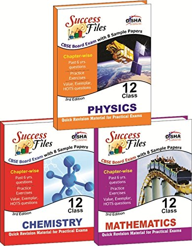 CBSE-Board Success Files Class 12 Physics, Chemistry & Mathematics with 8 Sample Papers (Old Edition)