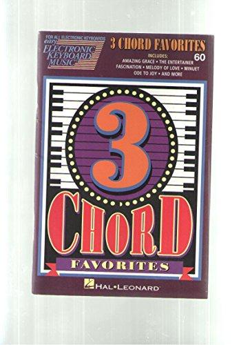 3 Chord Favorites (Easy Electronic Keyboard Music) [Paperback] by Hal Leonard
