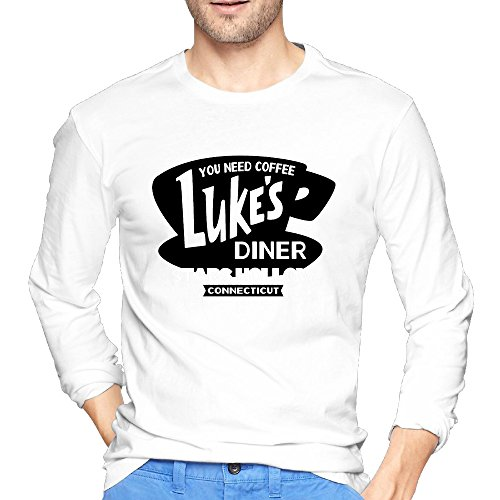 Men's Long Sleeve Luke's Diner Personalized Crazy Tee Shirts (Luke Personalized compare prices)