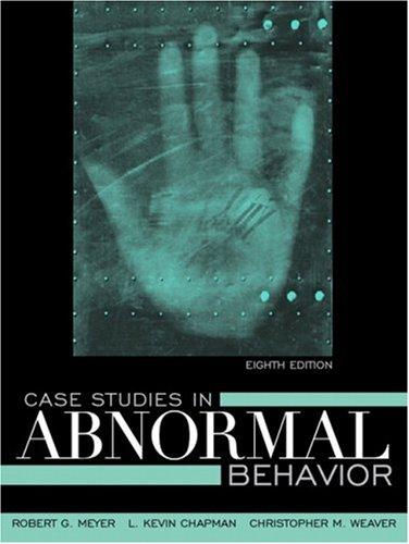 Case Studies in Abnormal Behavior (8th Edition)