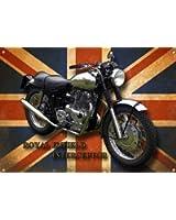 VINTAGE SIGN DESIGNS - Plaque métallique moto Royal Enfield Interceptor