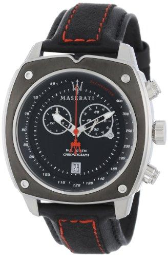 Maserati Men's Velocita R8871606001 Black Suede Analog Quartz Watch with Black Dial