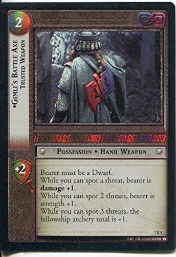 Il Signore degli Anelli-Foil CCG Card RotK 7.R9 Gimli's Battle-Axe, arma di fiducia