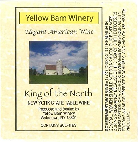 "Nv Yellow Barn Winery ""King Of The North"" Dry White 750 Ml"