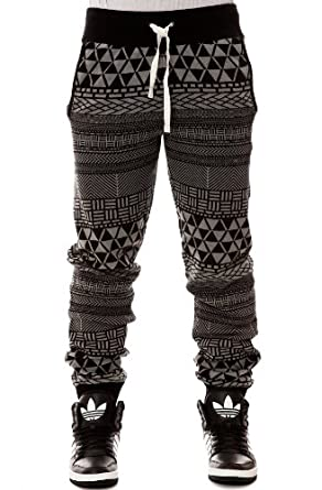 LRG Men's Metrick Jacquard Knit Pants Small Black