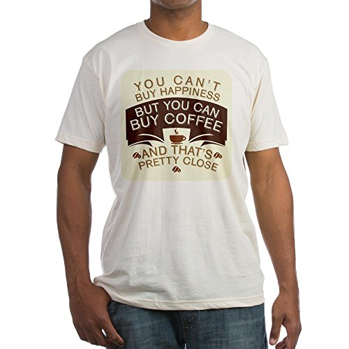 Royal Lion Fitted T-Shirt You Can'T Buy Happiness Buy Coffee - Natural, Medium