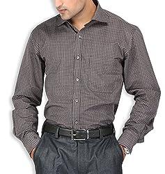 SPEAK Black Checks Cotton Mens Formal Shirt