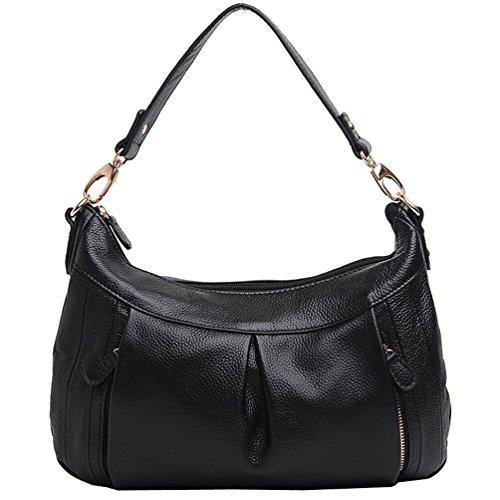 Freeze Classico alta qualità vera pelle borsetta nero