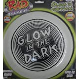 "Rad Flyer Glow In The Dark Frisbee Set Of Two (2) Easy Grip 10"" X 11.5"""