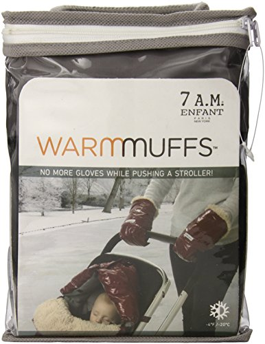 7 A.M. Enfant Stroller Hand Warmers For Parents And Caregivers, Black/Gray front-477346
