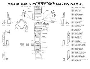 Carro Pacific Wood Dash  Infiniti G37 09-09 Fits Sedan W/ Auto Trans  W/ & W/O Nav Fit As Factory Upgrade Kit (Dr153 Anegre) 40Pc Set at Sears.com