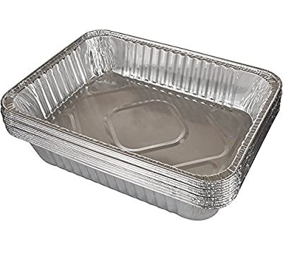Sturdy Gauge Deep Lasagna Pan [12 Pack] Disposable Aluminum Pans Ideal for Roasts, Casseroles, & Meal Prep - Also Works Great as Disposable Chafing Dishes for Steam Table | 14 x 10 x 3""