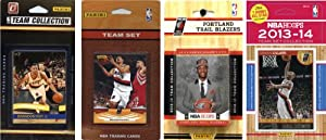 NBA Portland Trail Blazers 4 Different Licensed Trading Card Team Sets by C&I Collectables