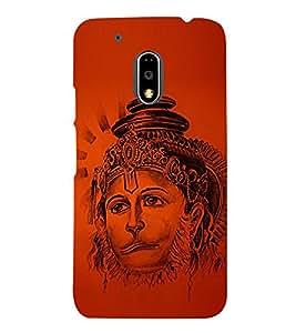 Lord Narasimha Hanuman Cute Fashion 3D Hard Polycarbonate Designer Back Case Cover for Motorola Moto G4 Plus :: Moto G4+