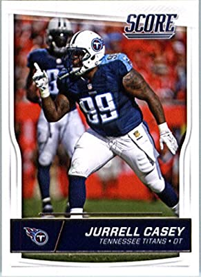 2016 Score #318 Jurrell Casey Tennessee Titans Football Card in Protective Screwdown Display Case