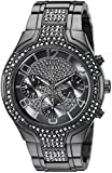 GUESS Women's U0628L5 Oversized Black Multi-Function Watch with Genuine Crystals