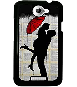 ColourCraft Loving Couple Design Back Case Cover for HTC ONE X