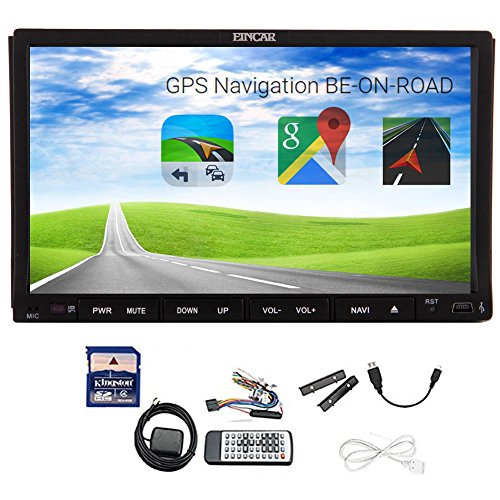 "Unità cruscotto auto lettore video navigatore GPS con scheda mappa SD gratuita doppio 2 DIN GPS SAT NAV 7"" satellite  auto radio lettore CD DVD VCD HD schermo tattile digitale sensibile WinCE 8 UI design di stile TV analogica BT RDS iPod Bluetooth per chiamate mani libere & musica"