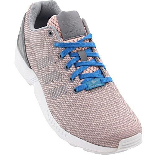 Adidas Originals ZX 8000 Flux Weave M19870 Glow Coral/Grey/Bahia Blue Men's Shoes (Size 7.5) (Zx 8000 Weave compare prices)