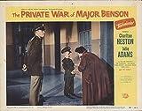 "The Private War of Major Benson 1955 Authentic 11"" x 14"" Original Lobby Card Fine, Very Good Charlton Heston Comedy"