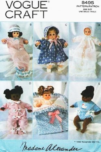 Vogue 8495 Madame Alexander 14 Inch Doll Clothes Sewing Pattern front-1063118