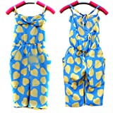 Urparcel Girls Jumpsuit Love Print Romper Overall Cute Cropped Pants Dress 2-7y