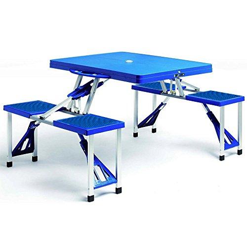 Alu-Camping-Sitzgruppe-mit-4-Sitzen-klappbar-Blau