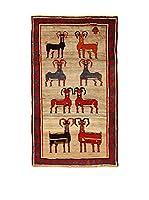 Kilim Carpets by Jalal Alfombra Gashgai (Beige/Azul/Rojo)