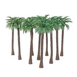 Imported 10pcs Model Coconut Palm Trees 1/65 14cm