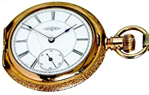 #D15E Aurora Ladies Size 6 15 Jewels Fancy Gold Filled Hunter Case Pocket Watch Circa 1886