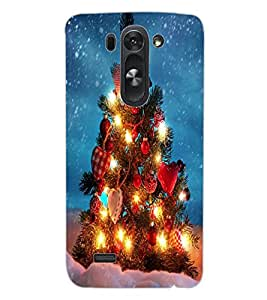 ColourCraft Merry Christmas Design Back Case Cover for LG D722 K